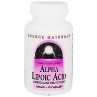 Source Naturals Alpha lipoic acid 100 mg capsules - 60 ea