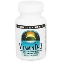 Source Naturals Vitamin D-3 400 IU tablets - 100 ea