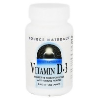 Vitamin D-3 1000 IU tablets for immune system - 200 ea