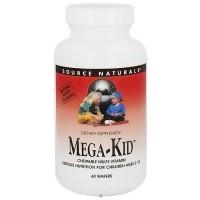 Source Naturals Mega Kid, Multivitamins, Natural Berry - 60 Wafers