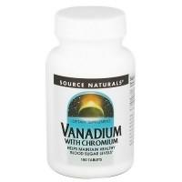 Source Naturals Vanadium with chromium blood sugar levels tablets - 180 ea