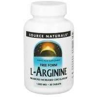 Source Naturals L-Arginine 1000 mg tablets - 50 ea