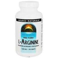 Source Naturals L-Arginine Free Form 1000 mg Tablets - 100 ea
