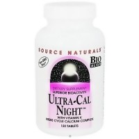 Source Naturals Ultra cal night with vitamin K tablets - 120 ea