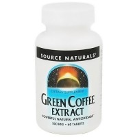 Source Naturals Green coffee extract 500 mg natural antioxidant tablets - 60 ea