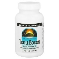 Source Naturals Triple boron 3 mg capsules - 200 ea