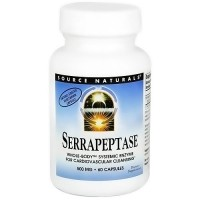 Source Naturals Serrapeptase 500 mg vegetarian capsules - 60 ea
