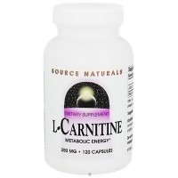 Source Naturals L-Carnitine metabolic energy 250 mg capsules - 120 ea