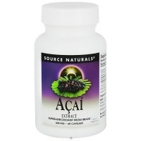 Acai extract 500 mg dietary supplement capsules by Source Naturals, 60 ea