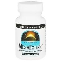 Source Naturals MegaFolinic, 800 mcg - 120 Tablets