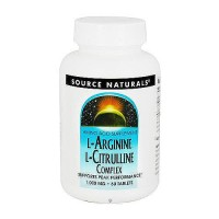 Source Naturals L-Arginine L-Citrulline complex 1000 mg - 60 tablets