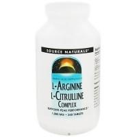 Source Naturals L-Arginine L-Citrulline complex 1000 mg tablets - 240 ea