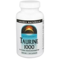 Source Naturals Taurine 1000 mg capsules - 120 ea