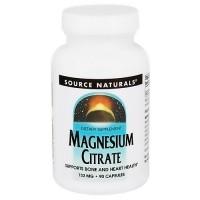 Source Naturals Magnesium citrate 133 mg capsules - 90 ea