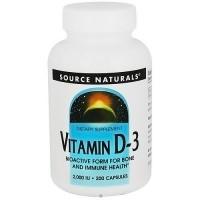 Source Nautrals Vitamin D-3 2000 IU Capsules - 200 ea