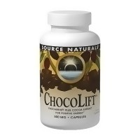 Source Naturals ChocoLift 500 mg chocamine plus cocoa extract capsules - 60 ea