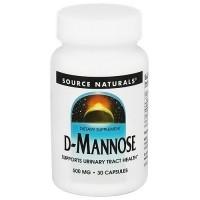Source Naturals D-Mannose 500 mg capsules - 30 ea
