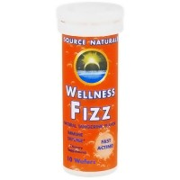 Source Naturals Wellness fizz, natural tangerine flavor wafers - 10 ea
