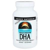 Source Naturals vegetarian DHA 200 mg softgels - 120 ea
