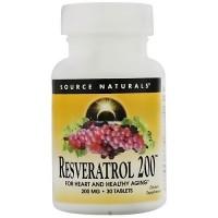 Source Naturals Resveratrol 200 200 mg tablets - 30 ea
