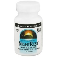 Source Naturals Nightrest with melatonin tablets  - 10 ea