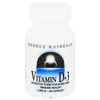 Source Naturals Vitamin D-3 5,000 IU capsules - 60 ea