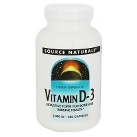 Source Naturals Vitamin D-3 5000 IU capsules for bone and immune health - 240 ea