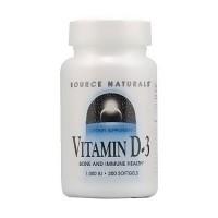 Source Naturals Vitamin D-3 bone and immune health 1000 IU softgels - 200 ea