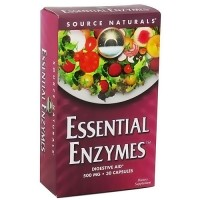 Source Naturals Essential enzymes 500 mg capsules - 30 ea