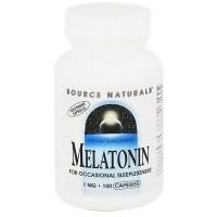 Source Naturals Melatonin 1 mg vegetarian capsules - 100 ea