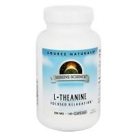 Source Naturals L-Theanine 200 mg capsules - 120 ea