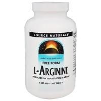 Source Naturals L-Arginine 1000 mg tablets - 200 ea