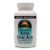 Source Naturals Alpha lipoic acid 600 mg Capsules - 120 ea