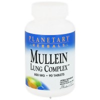 Planetary Herbals Mullein lung complex 850 mg herbal supplement tablets - 90 ea