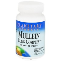 Planetary Herbals Mullein Lung Complex 850 mg Tablets - 15 ea
