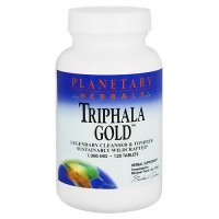 Planetary Herbals Triphala gold 1000 mg herbal supplement tablets - 120 ea
