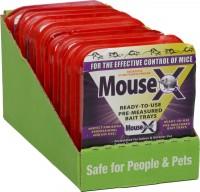 Ratx mousex single serving bait tray - 1 tray, 9 ea