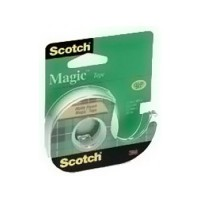 Scotch Magic Tape, Display Case, 1/2 in x 450 in (12mm x 11.4 m) - 1 Roll