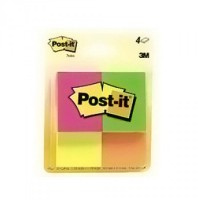 Post-It Note Pads, Fluorescent Colors, 1.5 Inches X 2 Inches - 12 ea