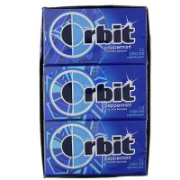 Wrigleys Orbit Peppermint Sugar Free Gum, Peppermint - 12 x 14 Piece