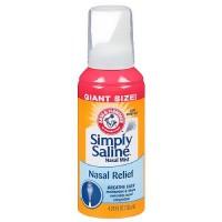 Simply Saline Sterile Saline Nasal Mist, Giant Size Nasal Wash - 4.25 oz