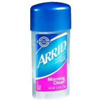 Arrid extra dry antiperspirant deodorant clear gel, morning clean - 2.6 oz