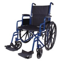 Carex health brands wheelchair, blue - 1 ea