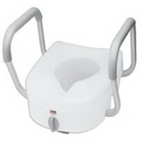 Carex E-Z lock raised toilet seat with handles arms and easy lock feature - 1 ea