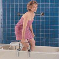 Carex  bathtub rail with chrome finish - 1 ea