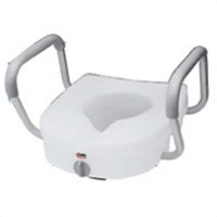 E-z lock raised toilet seat with handles, model:b311-c0, by apex-carex - 1 ea