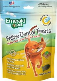 Emerald Pet Products Inc emerald pet feline dental grain free treats - 3 ounce, 12 ea