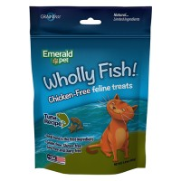 Emerald Pet Products Inc wholly fish chicken-free cat treats - 3oz, 12 ea