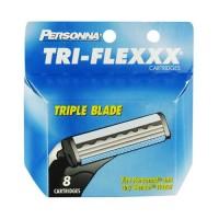 Personna tri-flexxx triple blade cartridges for men - 8 ea