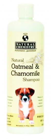 Natural Chemistry natural oatmeal & chamomile shampoo - 16 oz, 12 ea